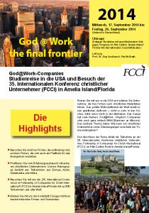 Vorschau USA Studienreise 2014 Jörg Knoblauch Jesus auf der Chefetage