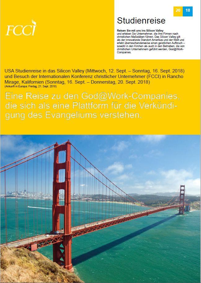 Studienreise christlich Silicon Valley